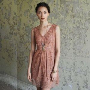 Yoana Baraschi at dusk blush lace dress